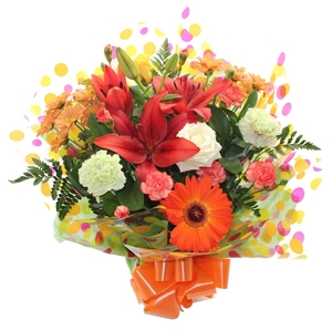 Fresh Funky Hand-tied Bouquet